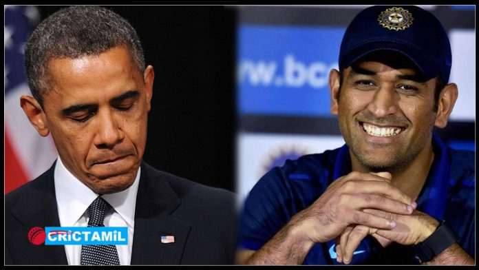 dhoni--Barack-Obama